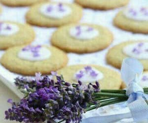 chocolate, Cookies, and lavender image