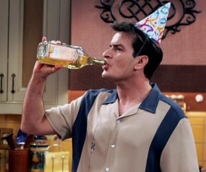 two and a half men, alcohol, and charlie image