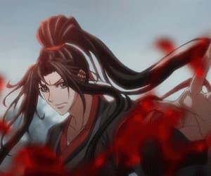 anime, lan wangji, and gif image