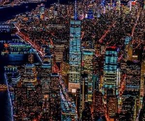 city, nyc, and lights image