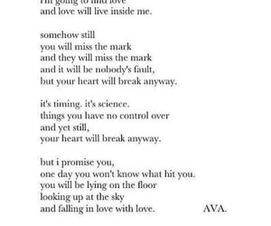 falling in love, one day, and poetry image