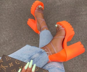 nails, shoes, and fashion image