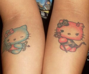 hello kitty, tattoo, and aesthetic image