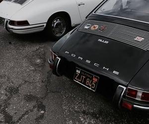 car, porsche, and black image