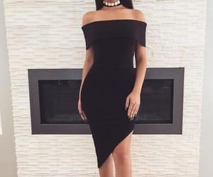 black dress, prom dress, and short dress image