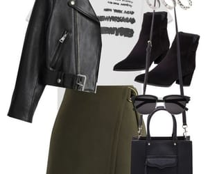 outfit, ankle boots, and skirt image