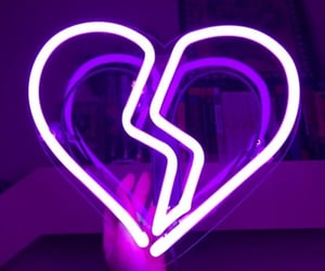purple, neon, and heart image
