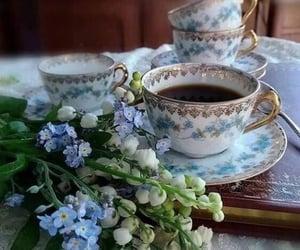 coffee, flowers, and coffee break image