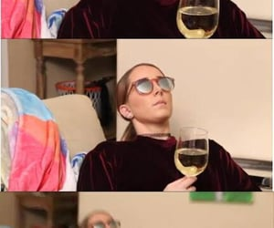 funny, wine, and jenna image