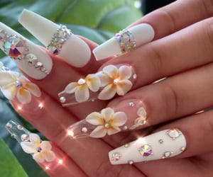 bling, flower, and nails image