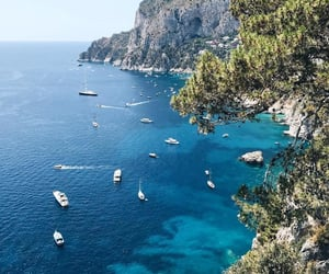 capri and sea image