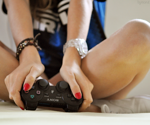 arms, bracelet, and video games image