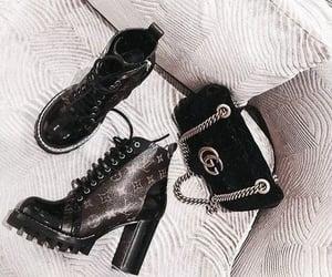 fashion, bag, and boots image
