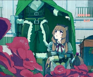 anime, green, and the rising of shield hero image