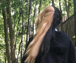 aesthetic, black, and blonde image