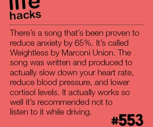 anxiety, music, and red image