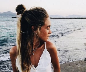 beach, style, and love summer image