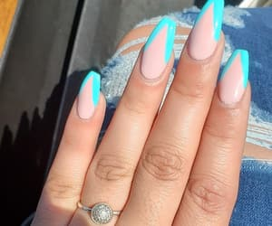 blue, nails, and Nude image