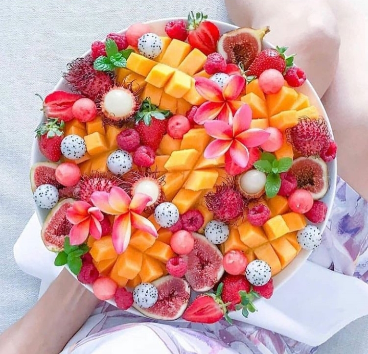 fruit, fitness, and flowers image