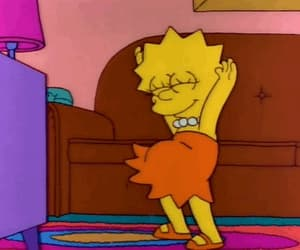 dance, lisa, and simpsons image