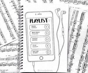 playlist, bullet journal, and music image