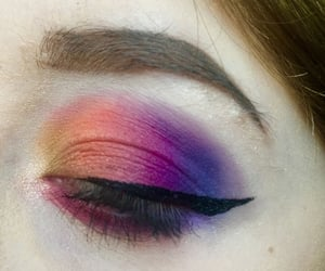 artist, eye, and makeup image