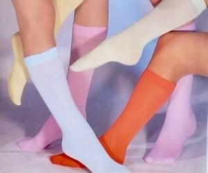 color, pastel, and socks image