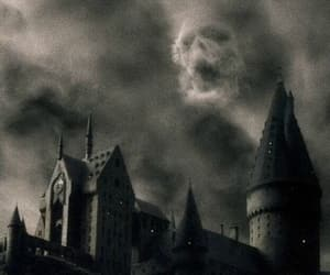 harry potter, hogwarts, and dark image
