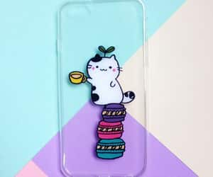 cat, foods, and phone case image