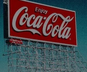 red, coca cola, and retro image