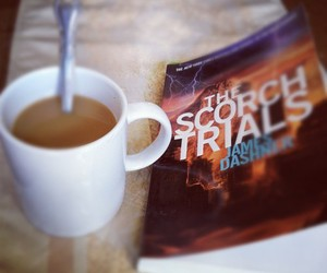 book, coffee, and the scorch trials image