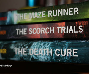 books, the maze runner, and the scorch trials image