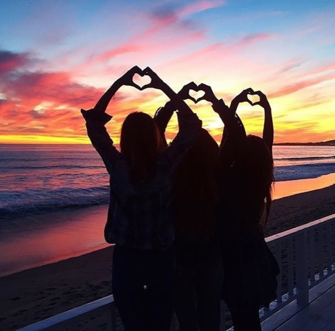Image result for SUNSET with friends