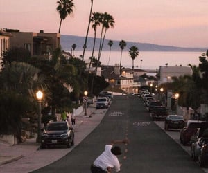 aesthetic, sunset, and skate image