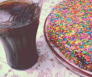 cake, coke, and colors image