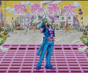 vaporwave and jojo`s bizarre adventure image