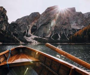 canoe and nature image
