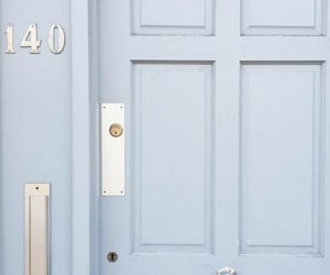 aesthetic, blue, and door image