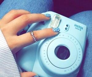 blue, camara, and nails image