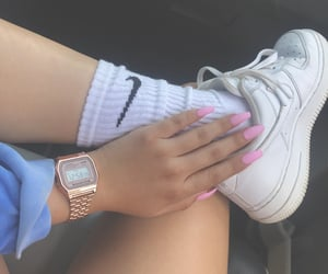 casio, nike, and nails image