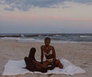 beach, black love, and love image