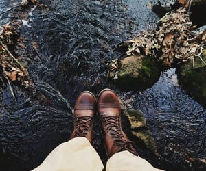 adventure, feet, and forest image