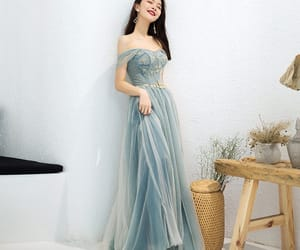 long dress, tulle dress, and girl image