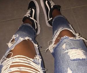 jeans, vans, and bronzer image