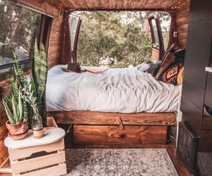 home, bed, and boho image