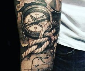 compass, tattoo, and Tattoos image