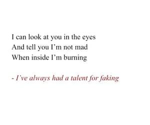 burning, fake, and feelings image