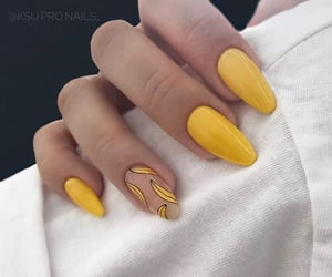 nails, yellow, and banana image