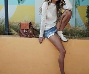 blogger, short jeans, and chloe bag image