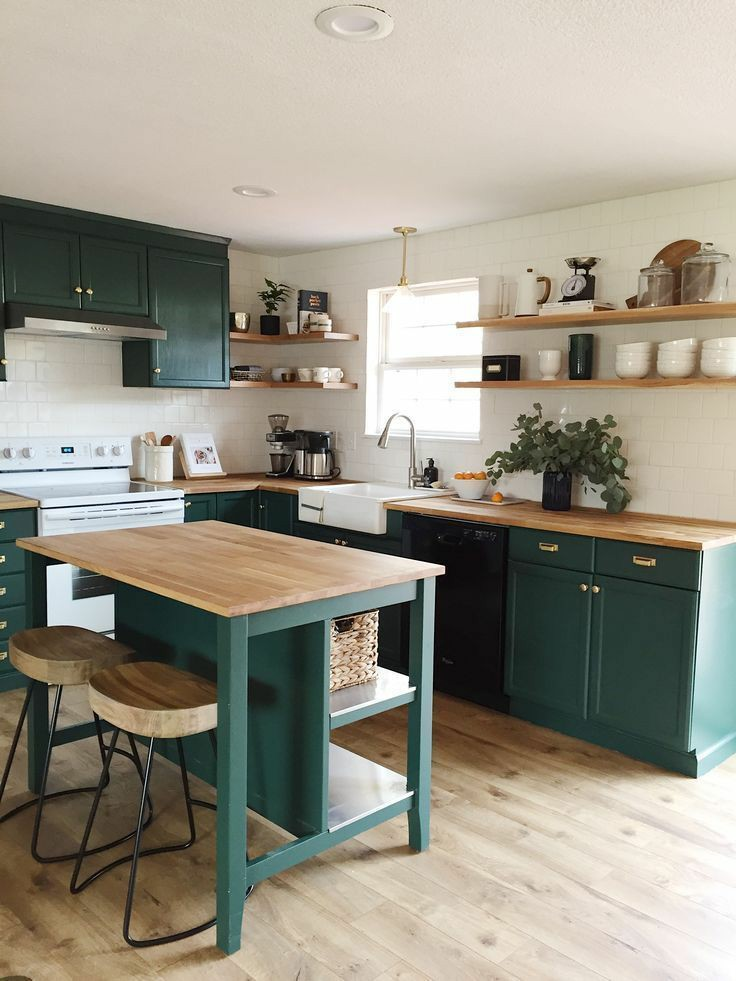 green, kitchen design, and beautiful image